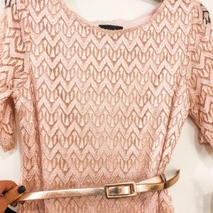NWT connected apparel rose gold dress size 6p